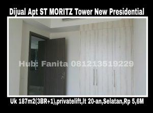 Dijual Apt ST MORITZ Tower New Presidential