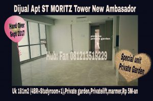 Dijual Apartment ST MORITZ Tower New Ambasador Jakarta Barat