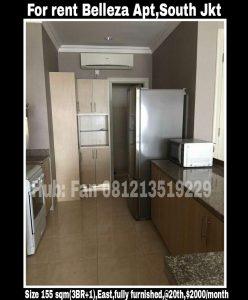 Disewakan Apartment Belleza Jakarta Selatan