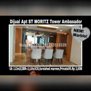 Dijual Apartment ST MORITZ Tower Ambasador Jakarta Barat