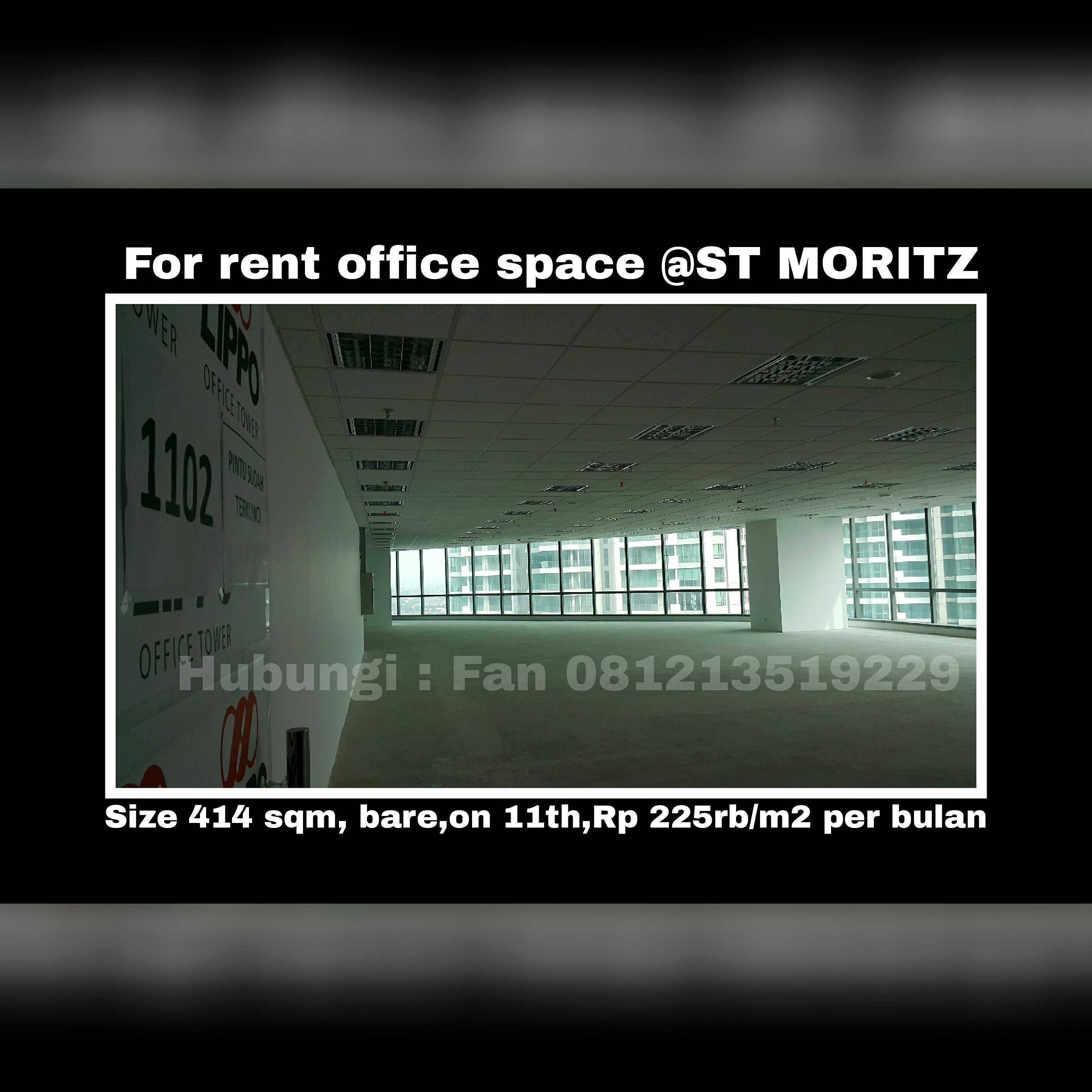 For Rental: Office Space @ST MORITZ For Rent