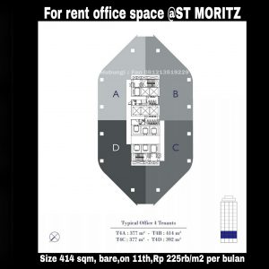 Office space @ST MORITZ for rent