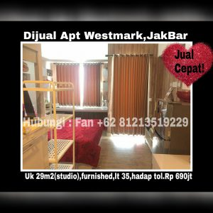 Dijual Apartment Westmark Jakarta Barat