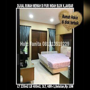 Dijual rumah di Puri Indah Jakarta Barat