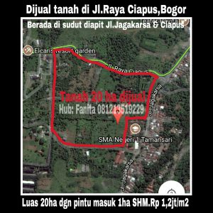 Dijual tanah di Ciapus Bogor