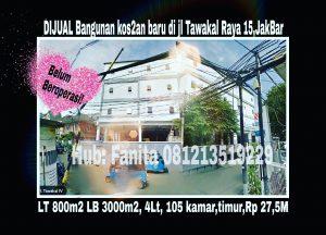 Dijual rumah di Grogol Jakarta Barat