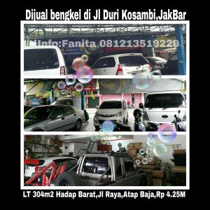 Dijual bengkel di Duri Kosambi Jakarta Barat