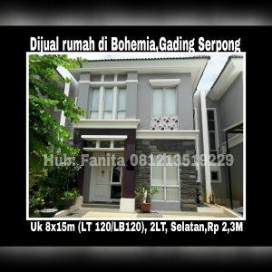 Dijual rumah di Gading Serpong Tangerang