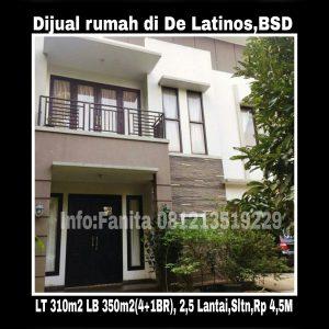 Dijual rumah di BSD Tangerang