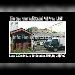 Dijual rumah di Pluit Jakarta Utara