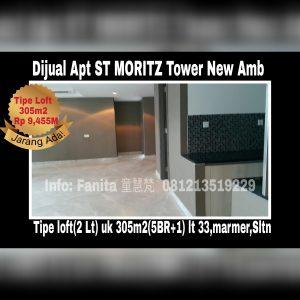 Dijual apartment St Moritz di Puri Indah Jakarta Barat