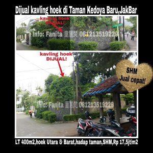 Jual Kavling Hunian di Taman Kedoya Baru Jakarta Barat