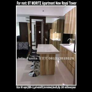 Disewakan apartment St Moritz Puri Indah Jakarta Barat