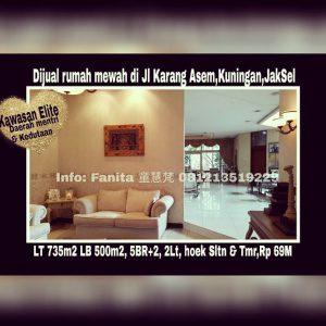 Dijual rumah di Kuningan Jakarta Selatan