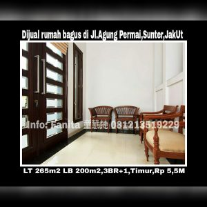 Dijual rumah di Sunter Jakarta Utara