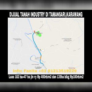 Dijual tanah industry di Tamansari Karawang