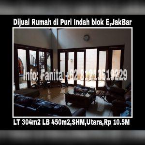 Dijual rumah mewah di Puri Indah Jakarta Barat