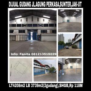 Dijual gudang di Sunter Jakarta Utara