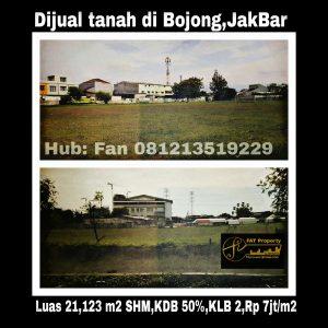 Dijual tanah di Bojong Jakarta Barat