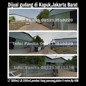 Dijual gudang di Kapuk Jakarta Barat