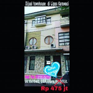 Dijual town house di Lippo Karawaci