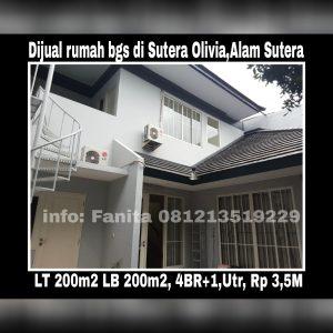 Dijual rumah di Alam Sutera Tangerang