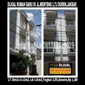 Dijual rumah di Tanjung Duren Jakarta Barat
