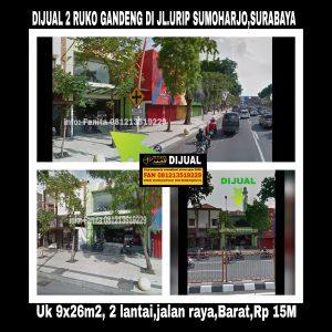 Dijual ruko di Jl Urip Sumoharjo Surabaya
