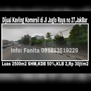 Dijual kavling komersil di Joglo Jakarta Barat