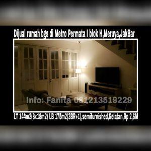 Dijual rumah di Metro Permata I Jakarta Barat