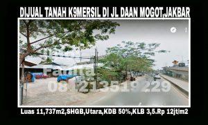 Dijual tanah di Daan Mogot Jakarta Barat