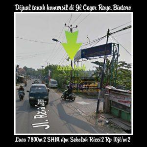 Dijual tanah di Bintaro Jakarta Selatan