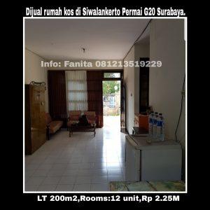Dijual rumah kos di Siwalankerto Permai G20 Surabaya