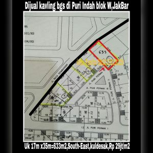 Dijual kavling perumahan elite di Puri Indah Jakarta Barat