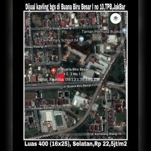 Dijual cepat kavling bagus di Perumahan elite Taman Permata Buana,Puri Indah,Jakarta Barat