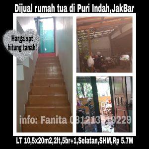 Dijual rumah tua Puri Indah,Jakarta Barat