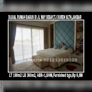 Dijual rumah bagus di Jl. Way Besai , Tanjung Duren Selatan, JAKARTA BARAT