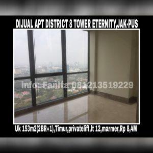Dijual Apartment District 8 Jakarta Pusat