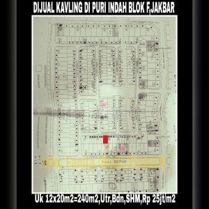 Dijual kavling perumahan elite di Puri Indah blok F Jakarta Barat