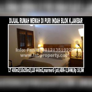 Dijual rumah mewah very lux di Puri Indah Blok K,Jakarta Barat