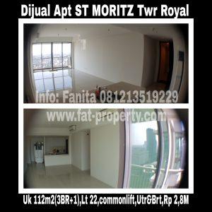Dijual Apartment ST MORITZ di Puri Indah,Jakarta Barat.