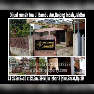 Dijual rumah tua di Jl Bambu Aur no belasan,Bojong Indah,JakBar
