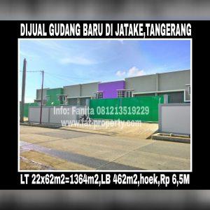 Dijual gudang baru di Jatake,Tangerang.