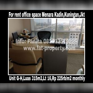 Office Space for Rent @Menara Kadin