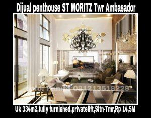 Dijual Penthouse ST MORITZ Puri Indah Jakarta Barat