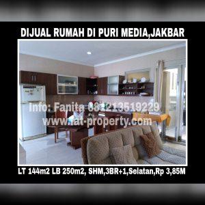 Dijual cepat rumah di Puri Media,Jakarta Barat.