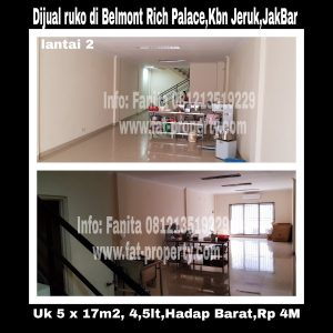 Dijual ruko bagus di Rich Palace Belmont Residence, Kebun Jeruk,Jakarta Barat.