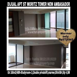 Dijual Apartment ST MORITZ Tower New Ambasador Puri Indah Jakarta Barat