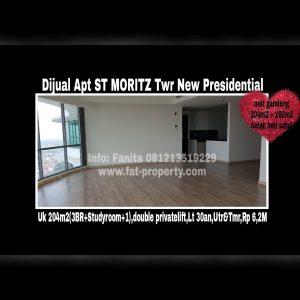 Dijual Apartment ST MORITZ Tower terbaru dan terbaik,New Presidential Tower Puri Indah Jakarta Barat