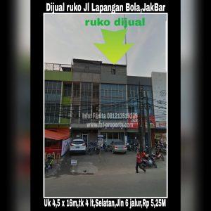 Dijual ruko bagus di Jl Lapangan Bola,Jakarta Barat.